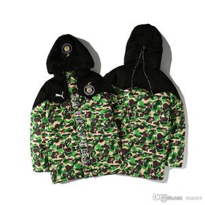 Camouflage Chaud Hoodies Hiver 2017 Épais Baseball Cothes Coton Rembourré Pour Hommes Chaud À Manches Longues Chaud Coton-Matelassé Veste