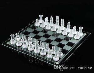 25 * 25cm K9 Glass ajedrez lucha libre Media Juego de ajedrez internacional Juego de ajedrez internacional de alta calidad embalado bien envío gratis