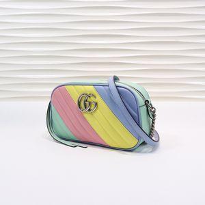 2020 hot classic colors brwon letter logo leather women handbag fashion men leather shouler bag free shipping 24-13-7cm 447632