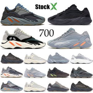 Kanye West 700 v2 Reflective Carbon ospedale Blu inerzia tephra Uomini Donne Esecuzione Sneakers Solid Gey analogico Teal Designer Shoes Trainer