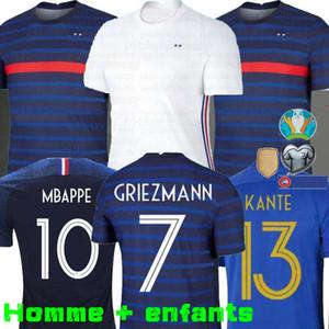 MAN + KIDS 2020 Griezmann Mbappé Francia fútbol Jersey KANTE 2018 Centenario Pogba camiseta de fútbol maillot de pie 19 20 ZIDANE EURO