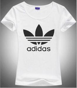 100% algodón barato Cut Doodle Imprimir Imprimir NUDER Mujeres camiseta Casual O-cuello de las mujeres de la camiseta del diseño de la mujer Tee Shirts Serigrafía carta W32