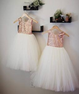 2019 реальной роза Золотого цветка девочек платья блестки пачка юбка девушка цветок шнурок для подростков на заказ Формального ПРИЧАЩЕНИЕ платья