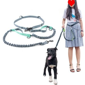 Amazon pet supplies wholesale explosion-proof and elastic nylon pet running traction rope walking dog traction belt