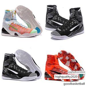 Livraison rapide Hommes KB9 Bryants 9 IX Pâques Chaussures montantes Basketball ZK9 Noël Chaussures Rouge Noir Blanc Bleu BHM baskets 9s 40-46