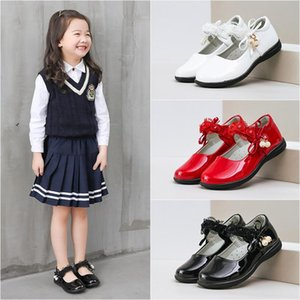 Girls Leather Shoes Formal Black Princess Party Shoes 2020 Spring Summer Autumn School Childrens Performance Girls D040415CUr#