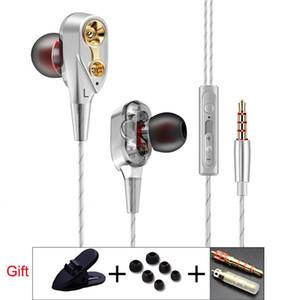 QKZ CK8 7D HiFi in-Ear Earphone Wired Dual Dynamaic loudspeaker Driver Super Bass Stereo For iphone samsung