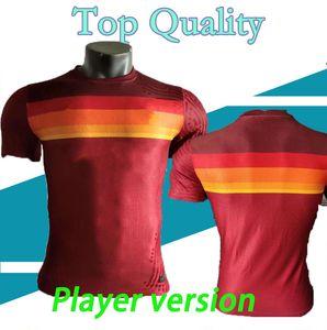 S-XXL-Player Version 2020 2021 AS Roma zu Hause Fußball-Trikots Nainggolan TOTTI DZEKO PEROTTI DE ROSSI PASTORE Custom Football-Hemd