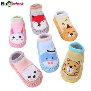 Kauçuk Taban Bebek Kat Çorap Fox Bunny Pamuk Sıcak Terlik Yenidoğan Bebek Çorap Ayakkabı Yumuşak Sole Bebe ile Erkek Bebek Kız Çorap