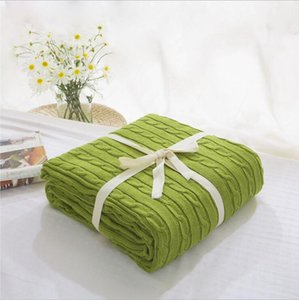 La manta hecha punto algodón espesado mantas de lana almuerzo de oficina ruptura manta manta de textiles para el hogar de la primavera con aire acondicionado 16 diseños LQPYW444