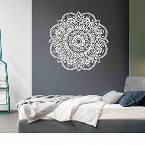 Accueil Inde Bouddhisme décorez fleur peinture décoration mandala murale Stickers sticker mural art amovible décoration intérieure Papier peint G-1075