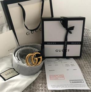 2020 Sıcak satış yeni 3,4 cm olanağı sağlayan 3,8 cm'lik özel kutu toz torbası hediye kağıt torba fatura şerit siyah kuşak hakiki deri İş kemer womens