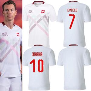 2020 2021 maillots de football Suisse loin blanc 20 21 Suisse Akanji Zakaria Rodriguez Elvedi chemises de football de l'équipe nationale