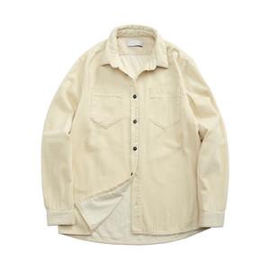 Topstoney 2020Konng Gonng Funktionale Cord-Mode-Hemd Frühling und Herbst Mode Marke Beiläufige Mantel Corduroy Langarmhemd