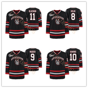Personalizzare Northeastern Huskies Università Julian Kislin Tyler Madden Brandon Hawkins Drew Blackmun hokey Jersey ricamati qualsiasi numero