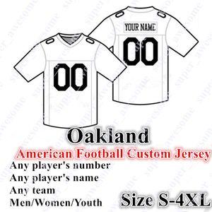 4xl personalizado Oakland Football Jerseys 4 Carr 28 Jacobs 91 Mayowa 83 Waller 16 Plunkett 81 Brown 24 Woodson 34 Jackson 75 LONG 25 BILETNIKOFF