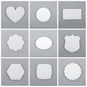 Blank photo diy personnalisée magnets pour réfrigérateur Blanks Sublimation doux aimants pour réfrigérateur Beau Maison Ameublement Décore multi style 3krH1