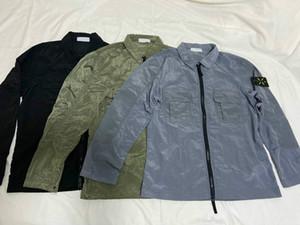Tasarımcı ceket rahat sokak ceketler Retro 2020 erkek Avrupa patlama naylon ceket Rahat su geçirmez yaka çift cepler tepelerini mens