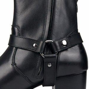 Плюс Размер 46 Черный ковбойские сапоги Мужчины моды Остроконечные Toe Zip Мотоцикл сапоги из натуральной кожи безопасности труда пинетки Человек Обувь