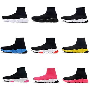 Balenciaga Sock shoes Luxury Brand zapatos de mujer para hombre calcetín Speed Trainer Sneakers Knitting Slip-on de alta calidad Casual Sports Shoe Comfort Chaussures