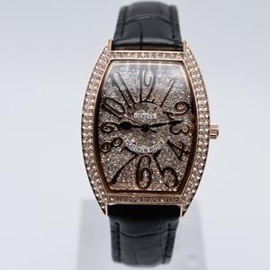 В продаже кварцевая кожа полный алмаз модные женские часы случайные аналоговые цифровые женские платья дизайнерские часы оптом женские подарочные наручные часы