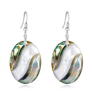 Toptan Abalone Shell Kolye Küpe-Benzersiz Yaratıcı Moda Parti Günlük Yaşam Charm Süslemeleri Süs Ücretsiz Kargo ES1D014
