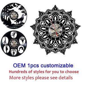 OEM 1pcs personalizables 12 pulgadas Negro del disco de vinilo pared de la clase de arte del reloj del hogar del regalo decoración de la pared
