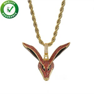 Designer Necklace Hip Hop Bling Chains Jewelry Men Iced Out Pendant Mens Gold Chain Pendants Luxury Diamond Cartoon Charms Rapper Fashion