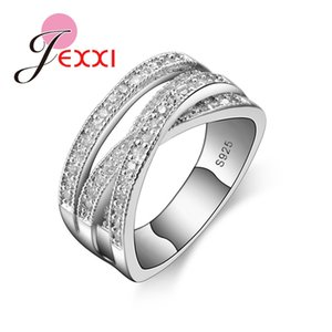 Women's New Fashion Ring Party Elegant Luxury Bride Jewelry 925 Sterling Silver Wedding Engagement Ring High Quality Wholesale