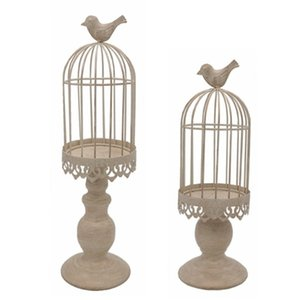 Desktop Birdcage Candlestick Home Decoration Candle Stand Holder Creative Ornaments Candlelight Dinner Table Ornaments