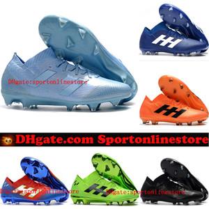 2019 كرة القدم للرجال المرابط Nemeziz Messi 18.1 FG أحذية كرة القدم Nemeziz 18 chaussures de football shoes chuteiras de futebol orange