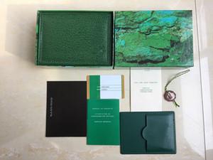 5adet İyi Kalite Lüks Koyu Yeşil İzle Kutusu Hediye Kutusu İçin Saatler Kitapçık Kart Etiketler Ve Kağıtlar yılında İngiliz İsviçre Üst Marka Saatler Kutular