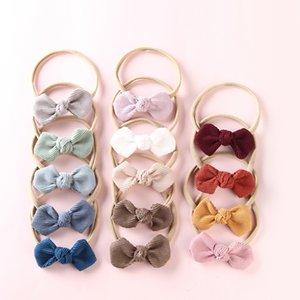 13PCS lot Corduroy Bow Headbands For Girls, Kids Stretch Nylon Headbands Cute Bowknot Headwear Hair Accessories Head Wrap
