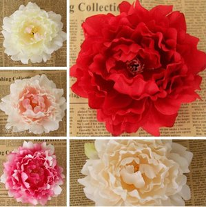 Artificial Flowers Silk Peony Artificial Flower Heads Simulation Fake Flower Wedding Decorative Wreaths Valentine's Day Flower Gifts ALSK105