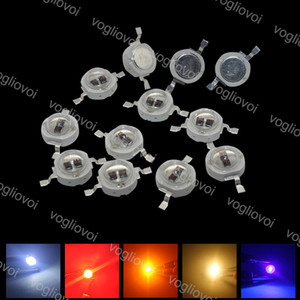 Beads ligeros 5W LED de alta potencia 2 unids Chip Diodo rojo UV amarillo ultra violeta para accesorios de iluminación Bombilla Foco Lámpara de techo Downlight EUB