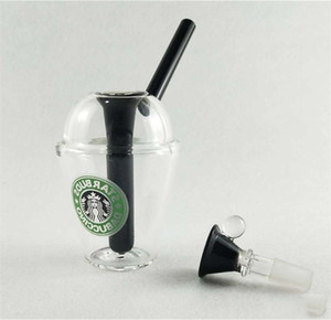 Inspiriert Mode Themed Wasser Bongs Konzentrat Cup Rig Bongs Glas rig Glas Wasser Rohre mit 14.4mm Größe