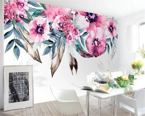 Romantic Floral 3d Wallpaper European-style Minimalist Elegant Flower Sofa TV Background Wall Interior Decoration Silk Mural Wallpaper