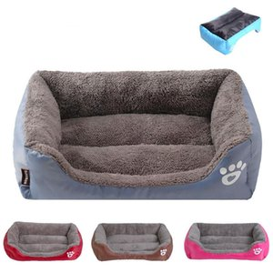 S-3XL 9 الألوان باو الحيوانات الأليفة أريكة الكلب سرير للماء أسفل لينة الصوف الدافئة القطة سرير البيت Petshop كاما Perro