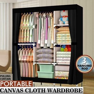 "71"" Portable Closet Wardrobe Clothes Rack Large Storage Space Home Organizer"