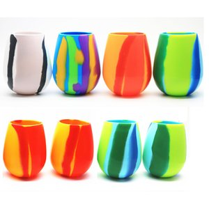 Bicchieri di birra in silicone Camouflage Pieghevole Stemless Cup Drinkware Caffè Bere Bicchiere Bicchiere Regali 4Colors HH9-2248