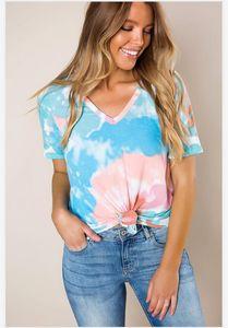 Новые бесплатные Для Пижамы Tiedye Для женщин Crew Neck Tie Dye Пижама Короткие наборы Набор Tie Dye Пижамы Цветочные печати Tiedye Sweet07 Hot