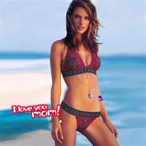 Para mujer del diseñador floral traje de baño atractivo Bras Breves 2pcs del bikini ropa vendaje de las mujeres de cintura baja del bikini