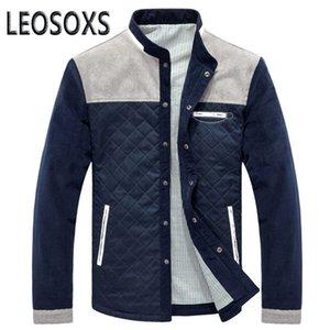 LEOSOXS весна осень Мужская куртка Baseball Равномерное тонкий вскользь пальто мужские Марка Одежда Мода Пальто Мужской Outerwea