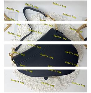 Borsa sacchetto della sella di qualità superiore vera pelle con tracolla borse borsa ciondolo in metallo a tracolla donna borsa Crossbody borse bovina