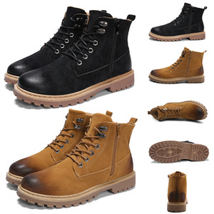 2020 Deri Bayan Erkekler Martin Boots Kış Sıcak Ayakkabı Motosiklet Erkek Bilek Boot Doc Martins Kürk Çift Oxfords Ayakkabı 39-44 ev yapımı marka