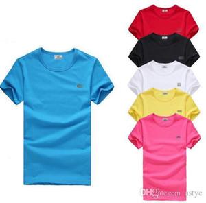 2018 neue hochwertige baumwolle große kleine pferd krokodil oansatz kurzarm t-shirt marke männer t-shirts casual style sport männer t-shirts 885