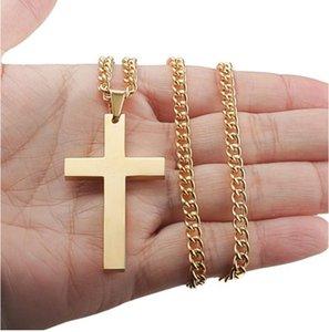 Kadınlar Ucuz Toptan DHL için Erkekler kolye Kolye Hip Hop Altın Gümüş haç kolye Takı Erkek Kolye Paslanmaz Çelik Takı