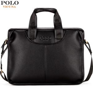 حقيبة فيكوينا POLO التصميم الكلاسيكي كبير الحجم جلدية حقائب الرجال عادية رجل الأعمال حقيبة مكتب حقيبة حقائب الكمبيوتر المحمول SH190918 maletin