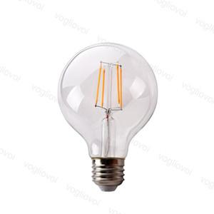 LED Ampuller G95 Yok Dim AC95-265V Filament 360 Açı Edison Lambası 4 W 6 W 8 W Sıcak Beyaz Kristal Avizeler için Sıcak Beyaz Kat Masa Işıkları DHL