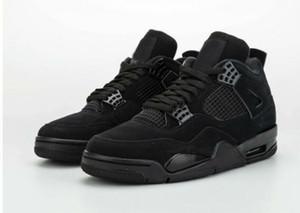 nouvelle couleur 4 4s hommes chaussures de basket-ball de rue formateurs extérieur de mens chat noir usure de US12